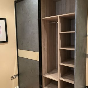 fitted wardrobe with lots of storage