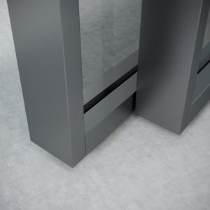 sliding doors in grey