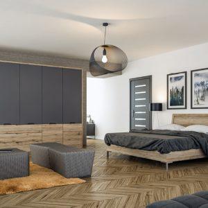 bella matt graphite san remo rustic integra wardrobe