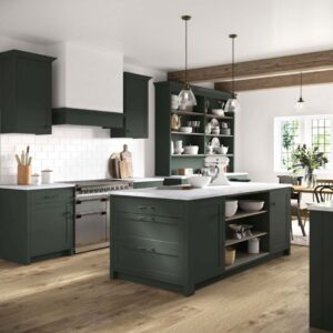 What colours go with sage green kitchen units